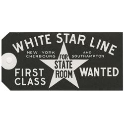 Titanic White Star (5) pieces of paperwork.