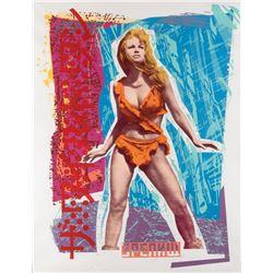 Richard Duardo signed screen print of Raquel Welch from 1 Million Years B.C.