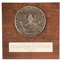 Writers Guild of America Valentine Davies Award Presented to Sam Simon, Co-Creator of The Simpsons.