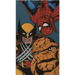 Marvel video box trio of artworks by Ron Frenz & Terry Austin.