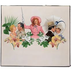 Joann Daley pair of original promotional artworks for 101 Great Melodies from Musicals.