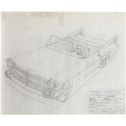 Technical drawings of The Muppet car from The Muppets Take Manhattan