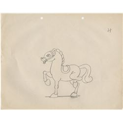 """Ub Iwerks Columbia Studios (200+) animation drawings - Color Rhapsodies """"The Horse on Merry-Go-Round"""