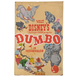 Original screen used hand-painted Dumbo poster display from 1941.