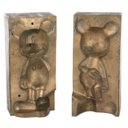 """Disney vintage brass injection mold for production of a """"Mickey Mouse"""" figurine."""
