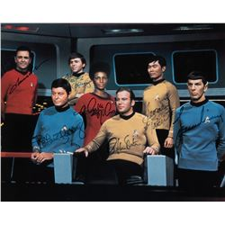 Star Trek limited edition cast signed photo.