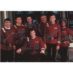 Star Trek signed limited edition cast photo.