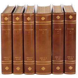 John D.F. Black (6) leather bound volumes of scripts.