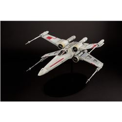 Highly detailed X-Wing Fighter model crafted from parts from the original Star Wars production molds