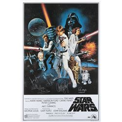 Star Wars cast-signed re-release 1-sheet poster.