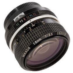 Nikon Nikkor 28mm 1:3.5 prime lens, serial number 235713, used in during filming of Star Wars.