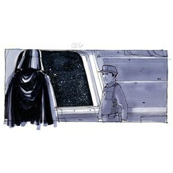 Storyboard art from the Empire Strikes Back.