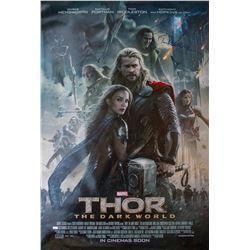 Chris Hemsworth & Tom Hiddleston signed Thor 1-sheet poster.