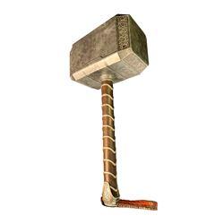 "Chris Hemsworth ""Thor"" stunt Mjölnir hammer from Thor: The Dark World."