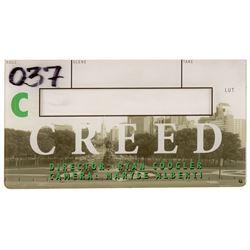 Creed interchangeable clapper board piece.