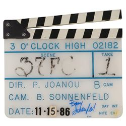 Production used (3) clapperboards from Three O'Clock High, The Set Up, Nine Lives.