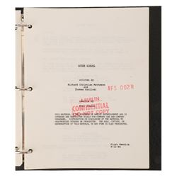 Three O'Clock High script and production ephemera.