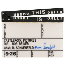 """""""Harry This is Sally"""" (When Harry Met Sally) clapperboard signed by Barry Sonnenfeld."""
