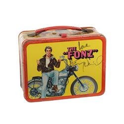 """Barry Sonnenfeld personal collectibles including a vintage """"Fonzie"""" Henry Winkler signed lunchbox."""
