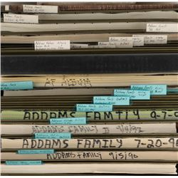 Barry Sonnenfeld's (10) Addams Family and (1) Addams Family Values scripts and concept sketch prints