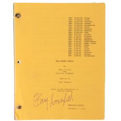 The Addams Family Shooting Script signed by director Barry Sonnenfeld.
