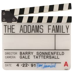 The Addams Family clapperboard signed by Barry Sonnenfeld.
