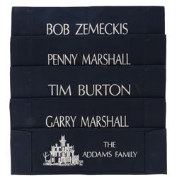 """The Addams Family (20) """"gag"""" directors chairback lot."""