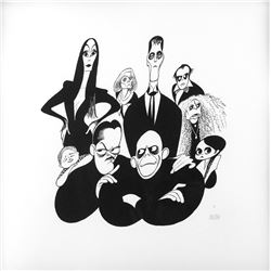 Barry Sonnenfeld's Addams Family limited edition print by Hirschfeld.