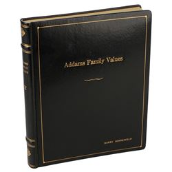 Addams Family Values signed book bound script.