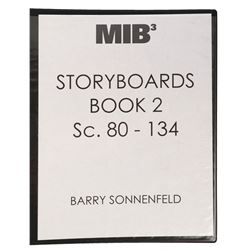 Men in Black 3 (3) large binders of 800+ pages of scripts and storyboards signed by Barry Sonnenfeld