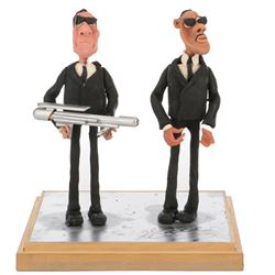 """Barry Sonnenfeld's Men in Black """"Jay""""and """"Kay"""" ILM claymation figures."""
