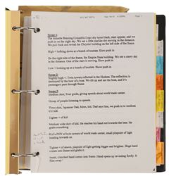 Men in Black 3 Barry Sonnenfeld's personal director's binder.