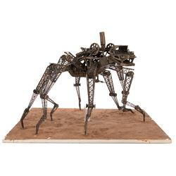 """Wild Wild West """"Spider Tank"""" model miniature maquette."""
