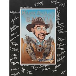 Wild Wild West collection of (4) items including script, birthday poster and Spider Tank poster.