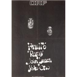 John Lennon and Yoko Ono poster for Film No. 6 Rape.