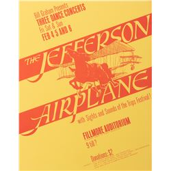 Jefferson Airplane Fillmore poster by Bill Graham.