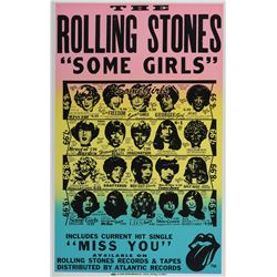 """The Rolling Stones promotional poster for the album """"Some Girls""""."""