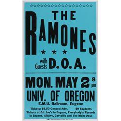 The Ramones University of Oregon concert poster.