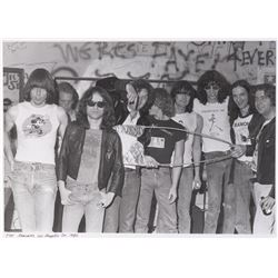 The Ramones (2) oversize photographs by Mark James Powers.