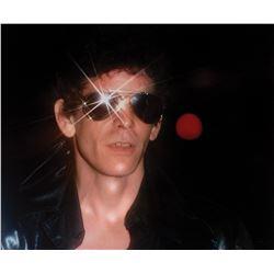 Lou Reed (2) oversize color portrait photographs.