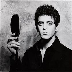 """Lou Reed exceptional oversize portrait photograph by Gary Gross for the cover of """"The Bells"""" LP."""