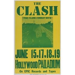 The Clash Hollywood Palladium concert poster.