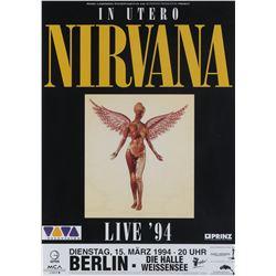 Original Nirvana In Utero Live '94 Berlin concert poster.
