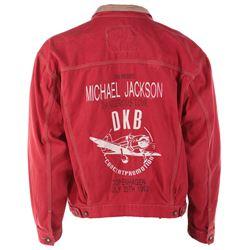 Michael Jackson Dangerous World Tour red crew jacket from Copenhagen July 20, 1992 performance.