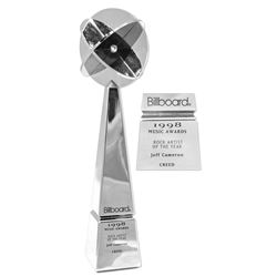 """Creed's 1998 Billboard Award for """"Rock Artist of the Year""""."""