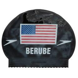 Ryan Berube 1996 Olympics swimming cap worn when he won the Gold Medal.