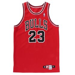 Michael Jordan original Game Worn 1997-98 Chicago Bulls Road Jersey with Mears Authentication.