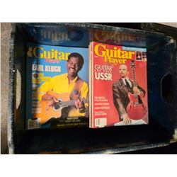 Crate of Vintage Guitar Magazines Cat A