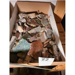 Assortment of Semi precious cut rocks