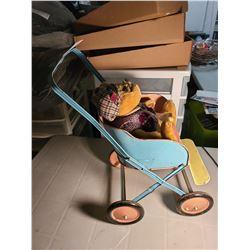 Child's Antique Toy Stroller Cat A